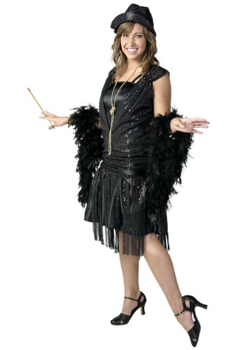 1920's Jazz Flapper Black (Small)