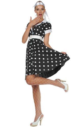 50s Diva (Black) – Adult (8-10) Costume