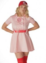 A-League-of-Their-Own-Rockford-Peaches-AAGPBL-Baseball-Womens-Costume-Dress-XXL-DELUXE-0-1
