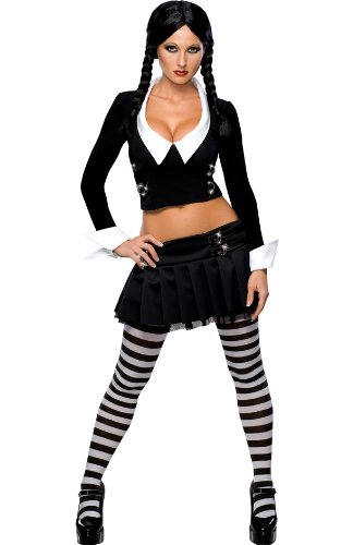 Addams Family Secret Wishes Wednesday Addams Costume, Black, M (6/10)