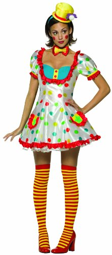 Adult Colorful Female Clown Costume (One size fits ladies size 4-10)