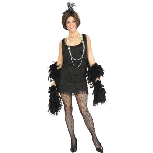 Adult Flapper Fringe Dress Costume – Small