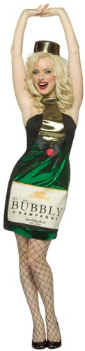 Adult Sexy Champagne Bottle Halloween Costume (Size: Standard 6-10)