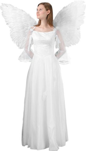 Adult White Feather Flying Angel Wings