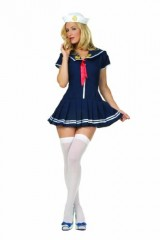 Anchors-Away-Navy-Pleated-Dress-With-Red-Tie-White-Sailor-Cap-Size-8-10-Navy-0-0