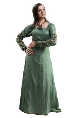 Armor Venue – Forest Princess Dress – Renaissance Gown Costume – Green Large