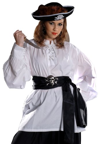 Armor Venue Grace O' Malley Poet Pirate Shirt – Pirate Costume – White S/M