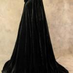 Artemisia-Designs-Lined-Black-Velvet-Cloak-with-Gold-Fleur-De-Lis-Pattern-0-10