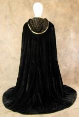 Artemisia-Designs-Lined-Black-Velvet-Cloak-with-Gold-Fleur-De-Lis-Pattern-0-11