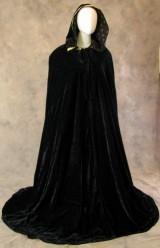 Artemisia-Designs-Lined-Black-Velvet-Cloak-with-Gold-Fleur-De-Lis-Pattern-0-12