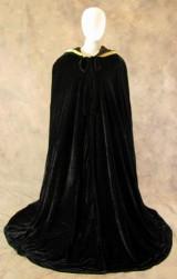 Artemisia-Designs-Lined-Black-Velvet-Cloak-with-Gold-Fleur-De-Lis-Pattern-0-13