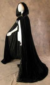 Artemisia-Designs-Lined-Black-Velvet-Cloak-with-Gold-Fleur-De-Lis-Pattern-0-9