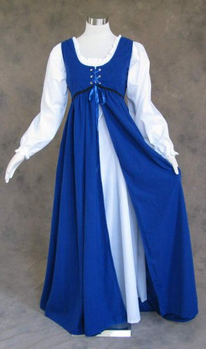 Artemisia Designs Medieval Renaissance Gown Dress and Chemise Royal Blue Medium