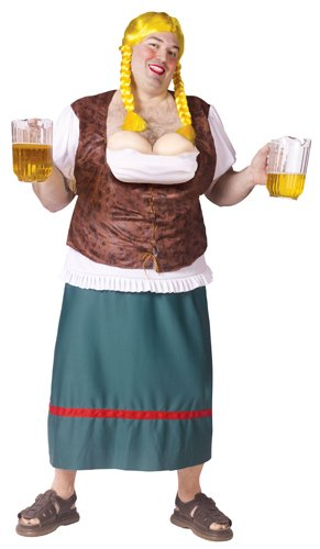 Bavarian Beauty with Beer Tap Bust Costume – Plus Size – Chest Size 48-53