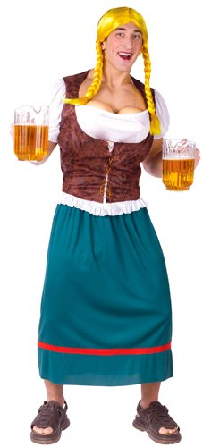 Bavarian Beauty with Beer Tap Bust Costume – Standard – Chest Size 33-45
