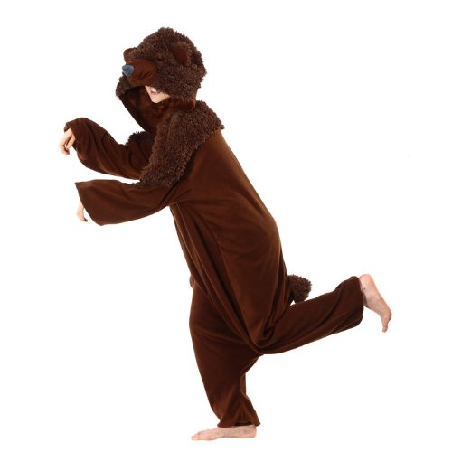 Bcozy Bear Onesie, Brown, One Size