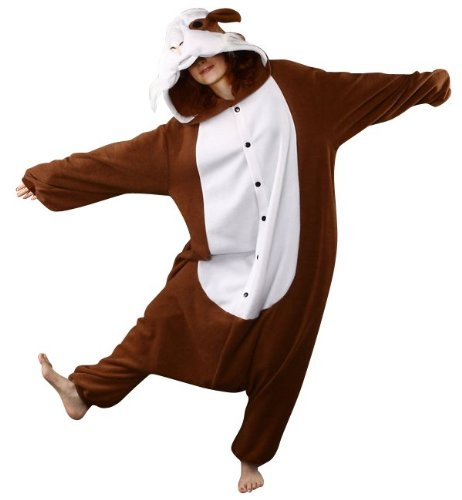 Bcozy Guinea Pig Onesie, Brown/White, One Size