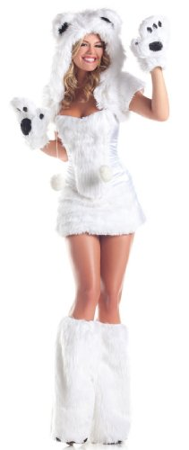 Be Wicked Costumes Women's Polar AR Costume, White, Small/Medium