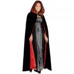 Black-Velvet-Full-Length-Cape-with-Hood-Costume-0-0