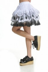 Blooms-Punk-Rock-Ruffle-White-Lace-Skirts-One-Size-61106W-0-5
