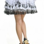 Blooms-Punk-Rock-Ruffle-White-Lace-Skirts-One-Size-61106W-0-7