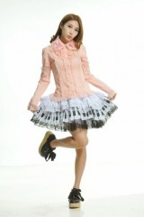 Blooms-Punk-Rock-Ruffle-White-Lace-Skirts-One-Size-61106W-0-8