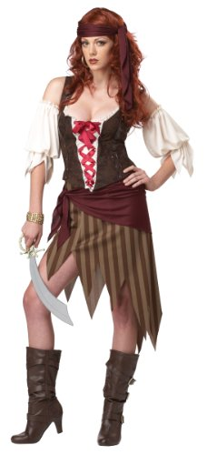 California-Costumes-Buccaneer-Beauty-Adult-Costume-OliveBrown-X-Large-0-0