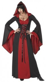California-Costumes-Deluxe-Hooded-Robe-Adult-Costume-RedBlack-Small-0-0