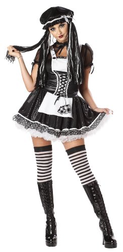 California Costumes Dreadful Doll Set, Black/White, Medium
