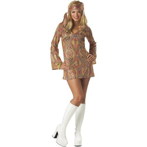 California Costumes Go Sexy 60s 70s Disco Dress Retro Costume Plus