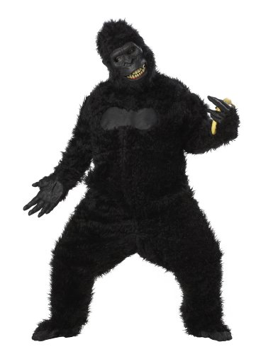 California Costumes Goin' Ape Bodysuit, Black, One Size Costume