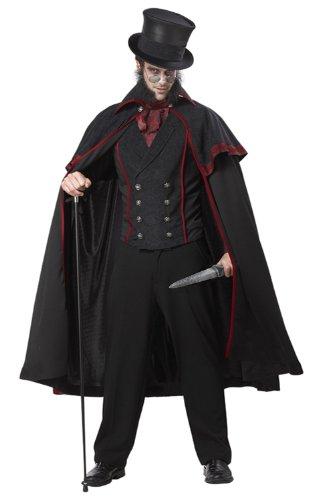 California Costumes Jack The Ripper Set, Black/Red, Medium