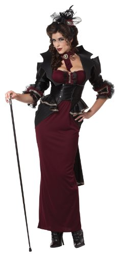 California Costumes Lady Of The Manor, Black/Burgundy, Medium Costume