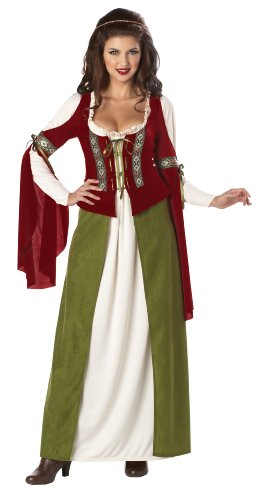 California Costumes Maid Marian Dress, Red/Olive, X-Large Costume