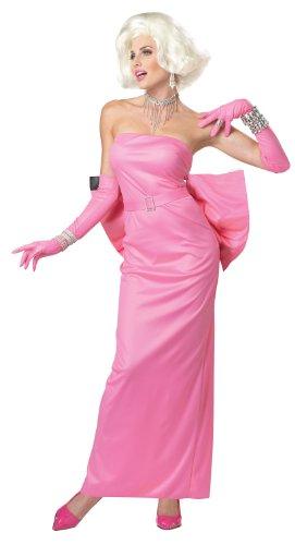 California Costumes Marilyn Monroe Diamonds, Hot Pink, Large Costume