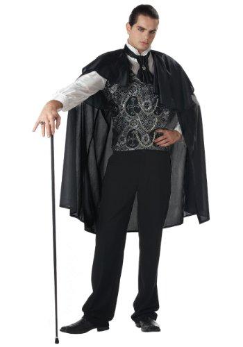 California Costumes Men's Adult-Victorian Vampire, Black, XL (44-46) Costume