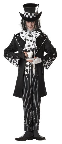 California Costumes Men's Dark Mad Hatter Costume,Multi,Large