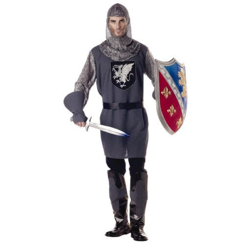 California Costumes Men's Valiant Knight Medieval M Black And Silver