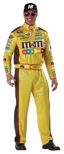 California Costumes Nascar Kyle Busch, Yellow, Large Costume