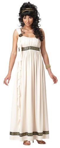 California Costumes Olympic Goddess Adult Costume, Cream, Large