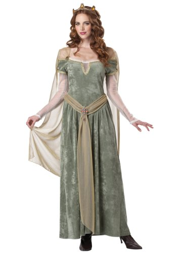 California Costumes Queen Guinevere, Sage, Large Costume