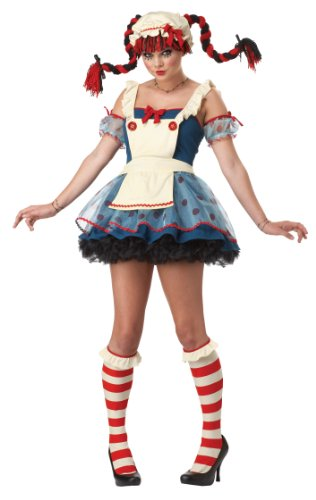 California Costumes Rag Doll Dress, Navy/White, 3-5 Costume