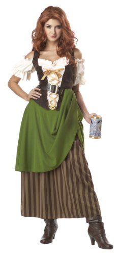 California Costumes Tavern Maiden Adult Costume, Olive/Brown, X-Large
