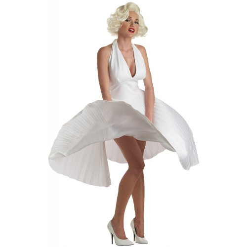California Costumes Women's Adult Deluxe Marilyn, White, XL (12-14) Costume