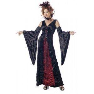 California Costumes Women's Adult-Vampire's Mistress, Black/Burgundy, L (10-12) Costume