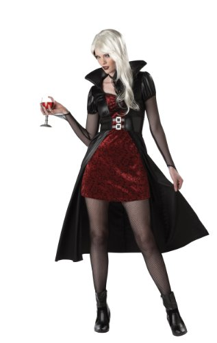 California Costumes Women's Blood Thirsty Beauty Costume, Black/Burgundy, Large
