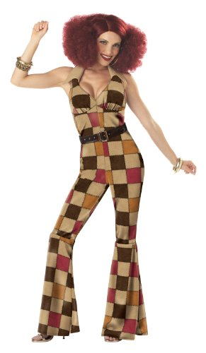 California Costumes Women's Boogie Babe Costume,Tan,Small