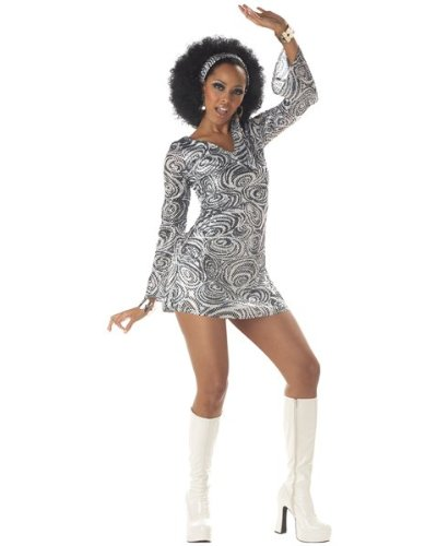 California Costumes Women's Disco Diva, As Shown, X-Large (12-14) Costume