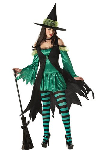 California Costumes Women's Emerald Witch Adult, Black/Green, X-Small