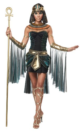 California Costumes Women's Eye Candy – Egyptian Goddess Adult, Black/Teal, Large
